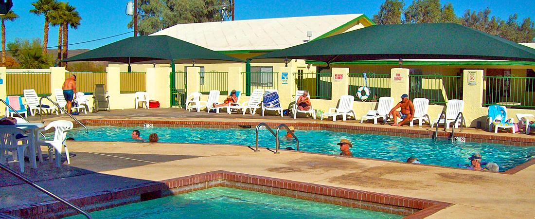 Heated Swimming Pool at Yuma Lakes RV Resort