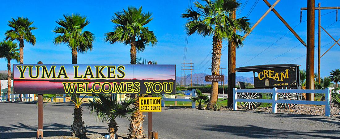 Yuma Lakes Resort Welcomes You!